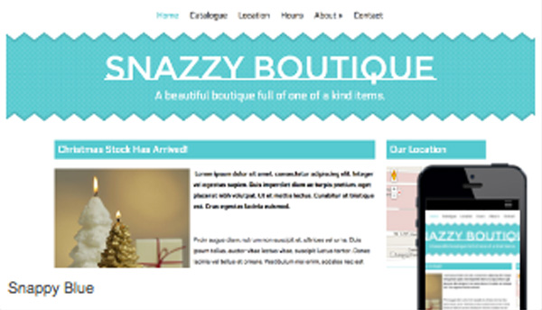 Snazzy Boutique Template