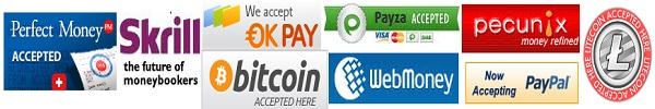 Buy domain, web hosting, SSL Certificate and website builder pay with Perfect Money, PayPal, Skrill (MoneyBookers), Bitcoin, Litecoin and WebMoney